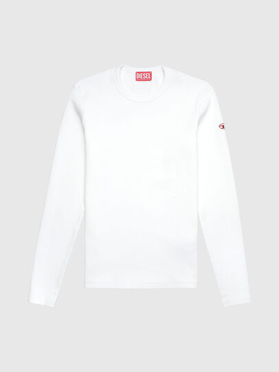 Diesel - D-RIBBER-LS, White - T-Shirts - Image 1