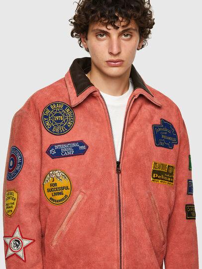 Diesel - DxD-3, Orange - Leather jackets - Image 6