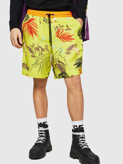 Diesel - P-NOTERY, Green Fluo - Shorts - Image 1