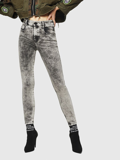 Diesel - Slandy High 069GQ, Light Grey - Jeans - Image 1