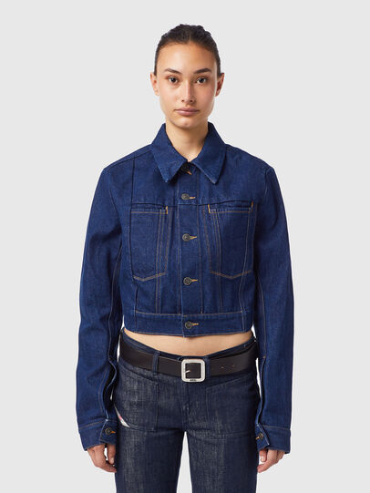 Diesel - DE-LUCYSHORT-SP, Blue - Denim Jackets - Image 1