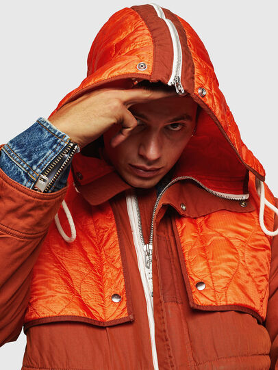 Diesel - W-KOVIK, Orange - Winter Jackets - Image 5