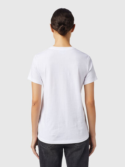 Diesel - T-SILY-B6, White - T-Shirts - Image 2
