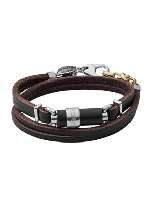 BRACELET DX1082, Black Leather - Bracelets