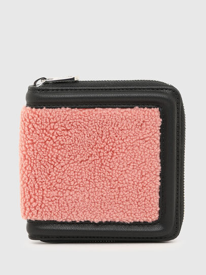 Diesel - PI-ZIP II, Pink/Black - Zip-Round Wallets - Image 1