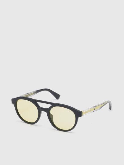 Diesel - DL0280, Black/Yellow - Sunglasses - Image 2
