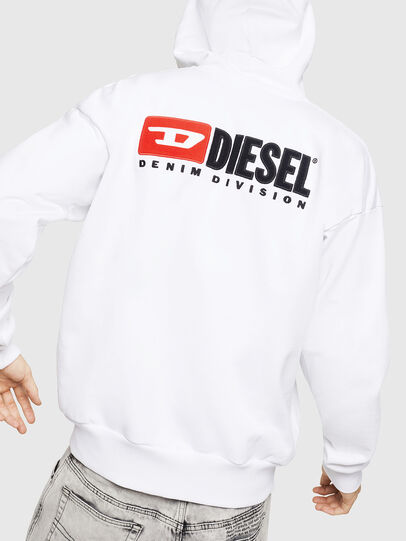 Diesel - S-ALBY-ZIP-DIV, White - Sweaters - Image 2
