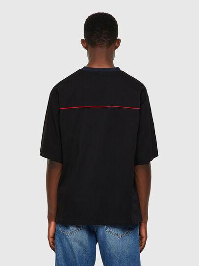 Diesel - T-DELPHIVY-SLITS, Black - T-Shirts - Image 2