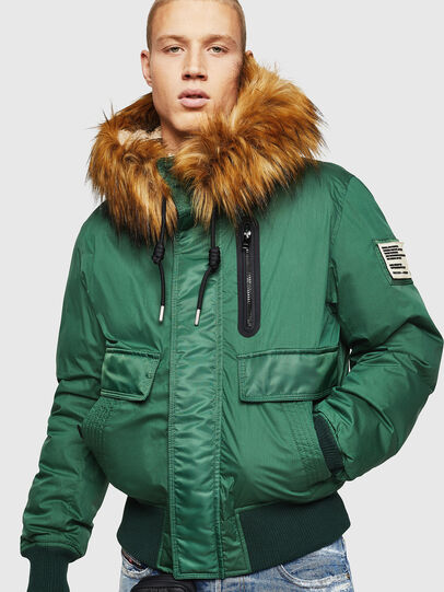 Diesel - W-BURKISK, Green - Winter Jackets - Image 1