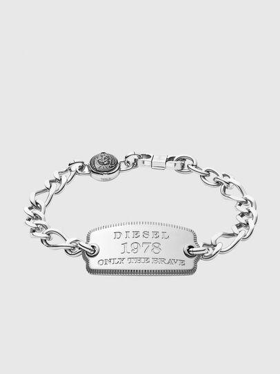 Diesel - DX1129, Silver - Bracelets - Image 1