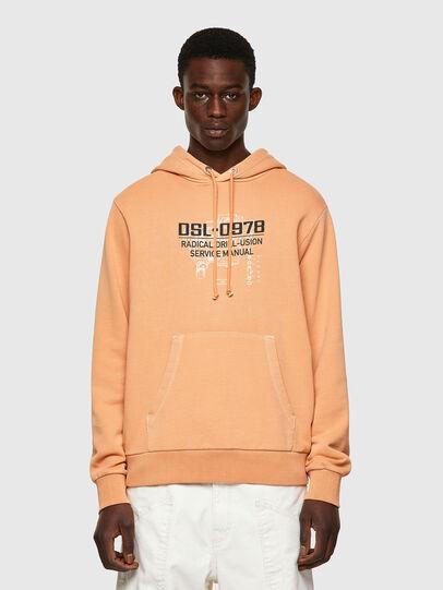 Diesel - S-GIRK-HOOD-B3, Orange - Sweaters - Image 1