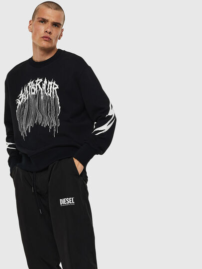 Diesel - S-BAY-B10, Black - Sweaters - Image 1