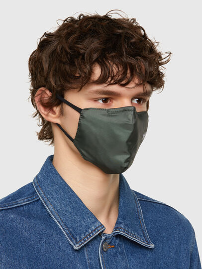 Diesel - FACEMASK-PLAIN-SS21, Military Green - Other Accessories - Image 2