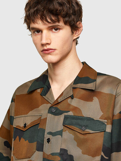 Diesel - S-WOLF-CAMU, Brown/Green - Shirts - Image 5
