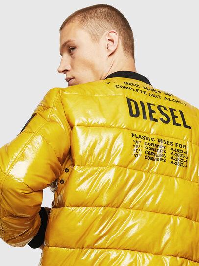 Diesel - W-ON, Yellow - Winter Jackets - Image 5