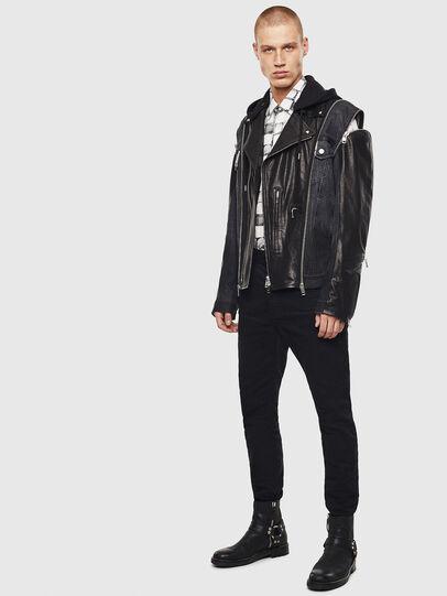 Diesel - D-LOSTY-SY, Black - Leather jackets - Image 8