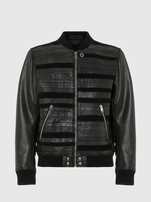 L-ROGER, Black - Leather jackets