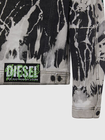Diesel - NHILL-SP3, Black/White - Denim Jackets - Image 5