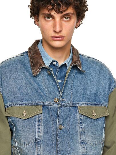 Diesel - DxD-J2, Green/Blue - Denim Jackets - Image 3