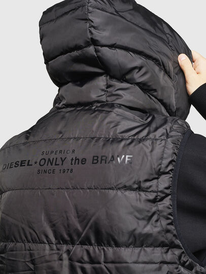 Diesel - W-SUN-REV-SLESS, Black - Winter Jackets - Image 3
