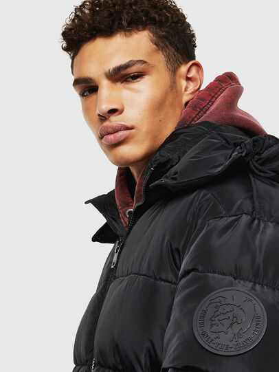 Diesel - W-SMITH-YA-WH, Black - Winter Jackets - Image 4