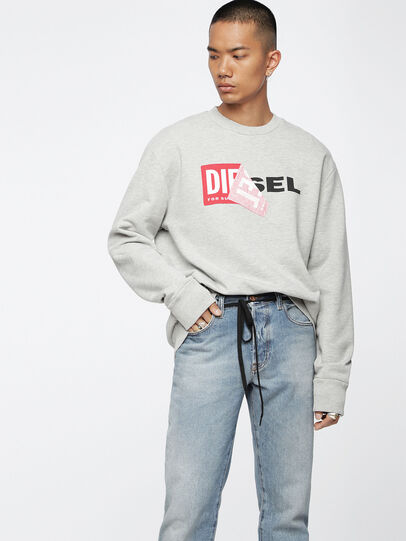 Diesel - S-SAMY, Light Grey - Sweaters - Image 3