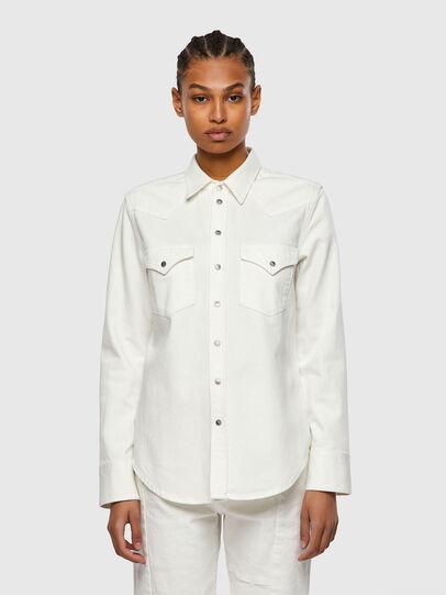 Diesel - DE-RINGY, White - Denim Shirts - Image 1