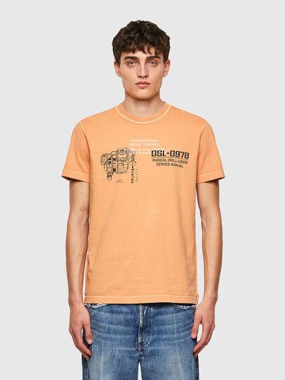 Diesel - T-DIEBIND-B1, Orange - T-Shirts - Image 1