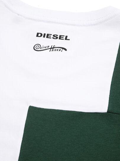 Diesel - D-FRANKENSTEIN 2.1, White/Green - T-Shirts - Image 5