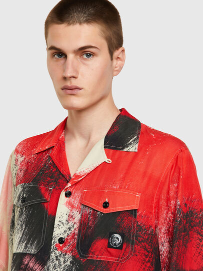 Diesel - S-WOLF-ALL, Red/White - Shirts - Image 3