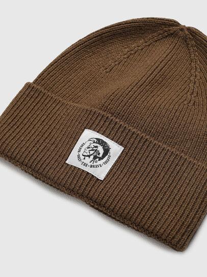 Diesel - K-CODER-FULLY, Brown - Knit caps - Image 3