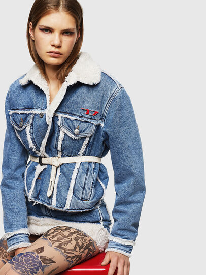 Diesel - DE-SVEA, Light Blue - Winter Jackets - Image 5