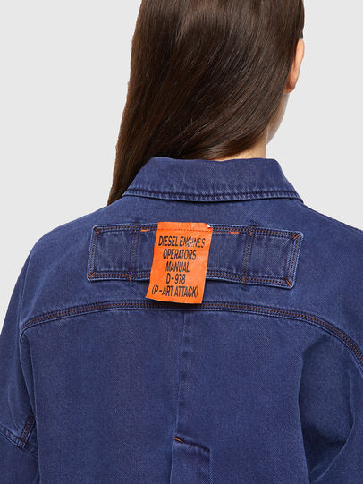 Diesel - DE-JALYN, Blue - Denim Jackets - Image 3