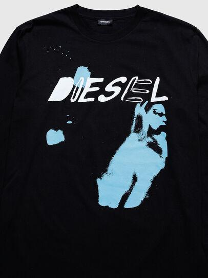 Diesel - US-T-JUST-LS, Black - T-Shirts - Image 3