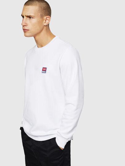 Diesel - S-GIR-DIV-P, White - Sweaters - Image 1