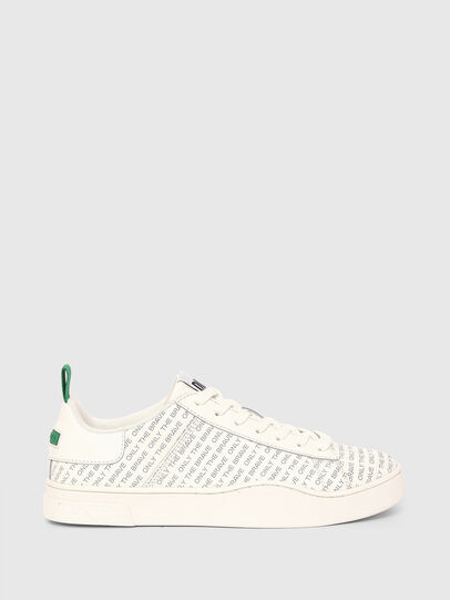 Diesel - S-CLEVER LOW LACE, White/Green - Sneakers - Image 1