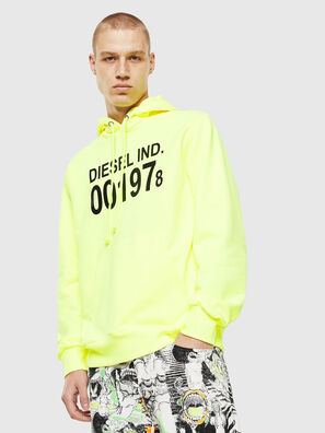 S-GIRK-HOOD, Yellow Fluo - Sweaters