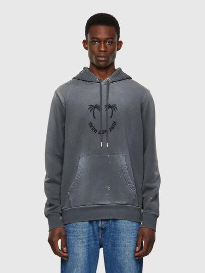 Diesel - S-GIRK-HOOD-B5, Dark grey - Sweaters - Image 1