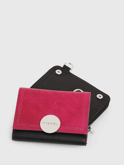 Diesel - LORY, Pink/Black - Small Wallets - Image 6