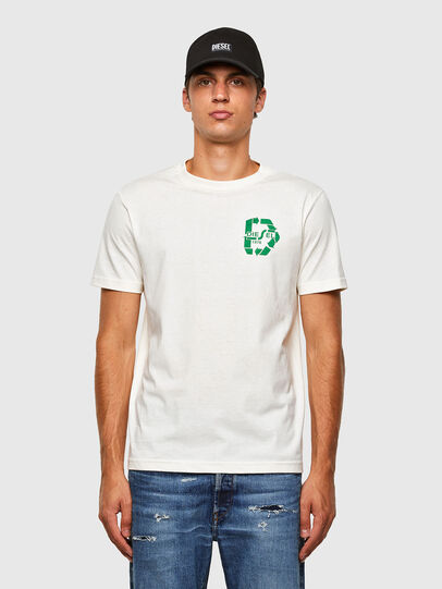 Diesel - T-JUST-N40, White - T-Shirts - Image 1
