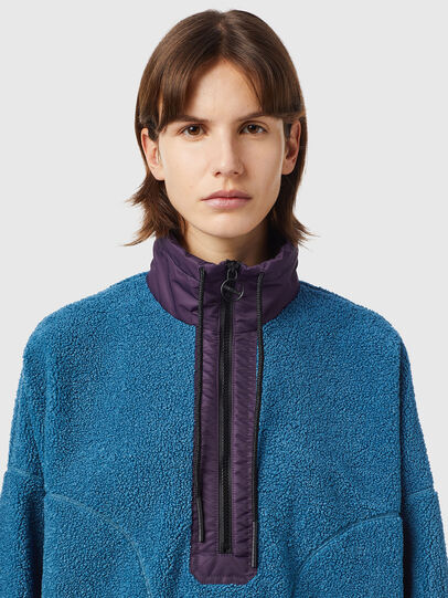 Diesel - F-CROPTED, Blue - Sweaters - Image 3
