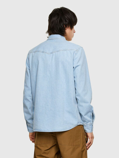 Diesel - D-EAST-P1, Light Blue - Denim Shirts - Image 2