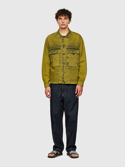 Diesel - D-FITZ-SP, Yellow - Denim Shirts - Image 5