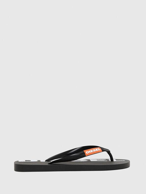 SA-BRIIAN W, Black/White - Slippers