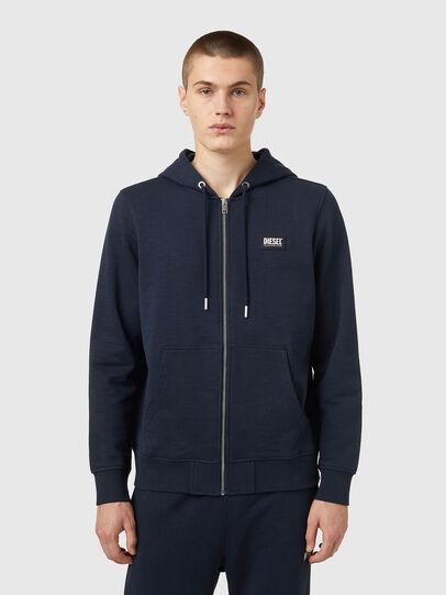 Diesel - S-GIRK-HOOD-ZIP-B2, Dark Blue - Sweaters - Image 1