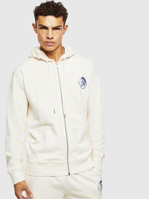 UMLT-BRANDON-Z, White/Blue - Sweaters