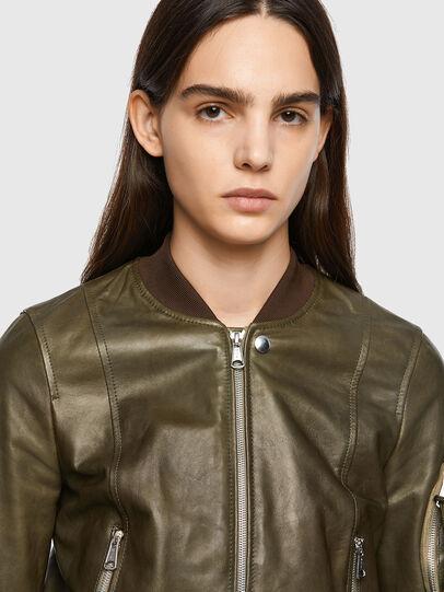 Diesel - L-ELIA, Olive Green - Leather jackets - Image 3