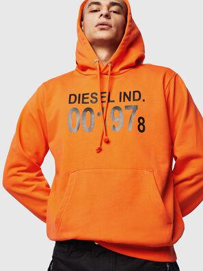 S-GIRK-HOOD, Orange - Sweaters