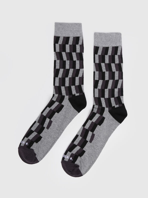 SKM-RAY, Gray/Black - Socks