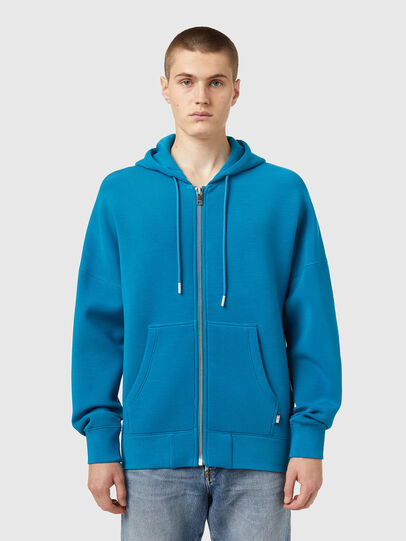 Diesel - S-KRIB-HOOD-ZIP, Blue - Sweaters - Image 1